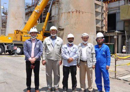 تجهیز اکونومایزر در کانال دو خروجی دیگ بخار شماره ۲ شرکت پالایش نفت اصفهان نصب شد