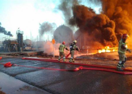 آخرین خبر از آتشسوزی پالایشگاه تهران، حجم آتش به ۵ درصد رسید